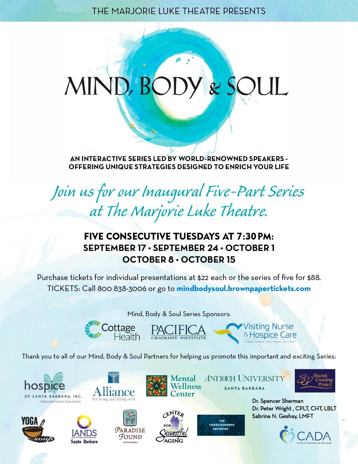 Mind, Body & Soul - The Luke Theatre